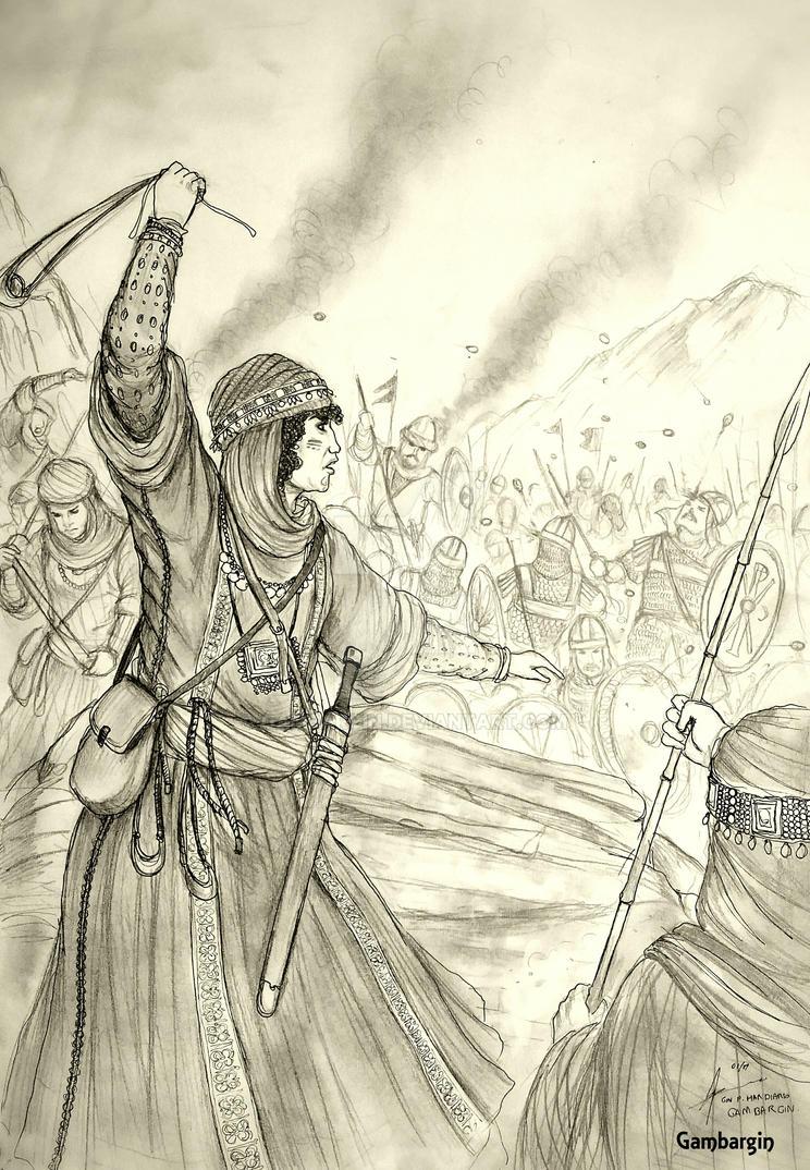 HWS Medieval Arab (Bedouin) Woman Warrior Concept by Gambargin