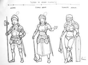 The Slider of Armor Feminity