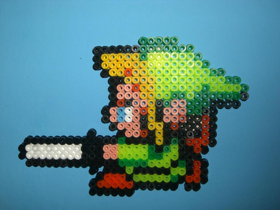 Hama/Perler Link with Sword by davedudedead