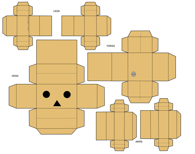 danbo papercraft by mio mio on deviantart. Black Bedroom Furniture Sets. Home Design Ideas