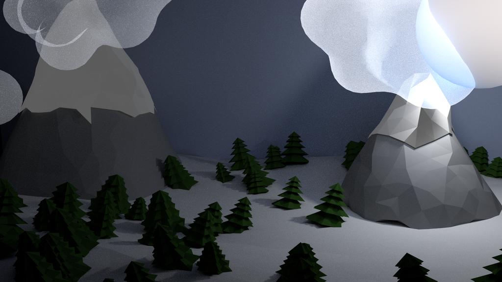 Winter scene WIP by dareme
