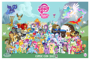 16k Pony Con Poster w logos by PonyComicConPoster