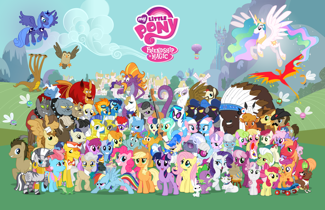 16,000 - no logos, no border by PonyComicConPoster