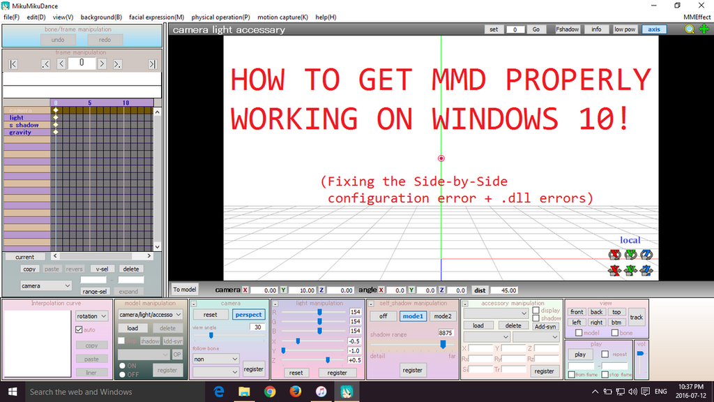 mmd tutorial getting mmd to work on windows 10 by mmdmariaxx on