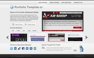 Portfolio Template 01 by rthaut