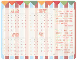 January-April Calender 2012 by Crown-Heart