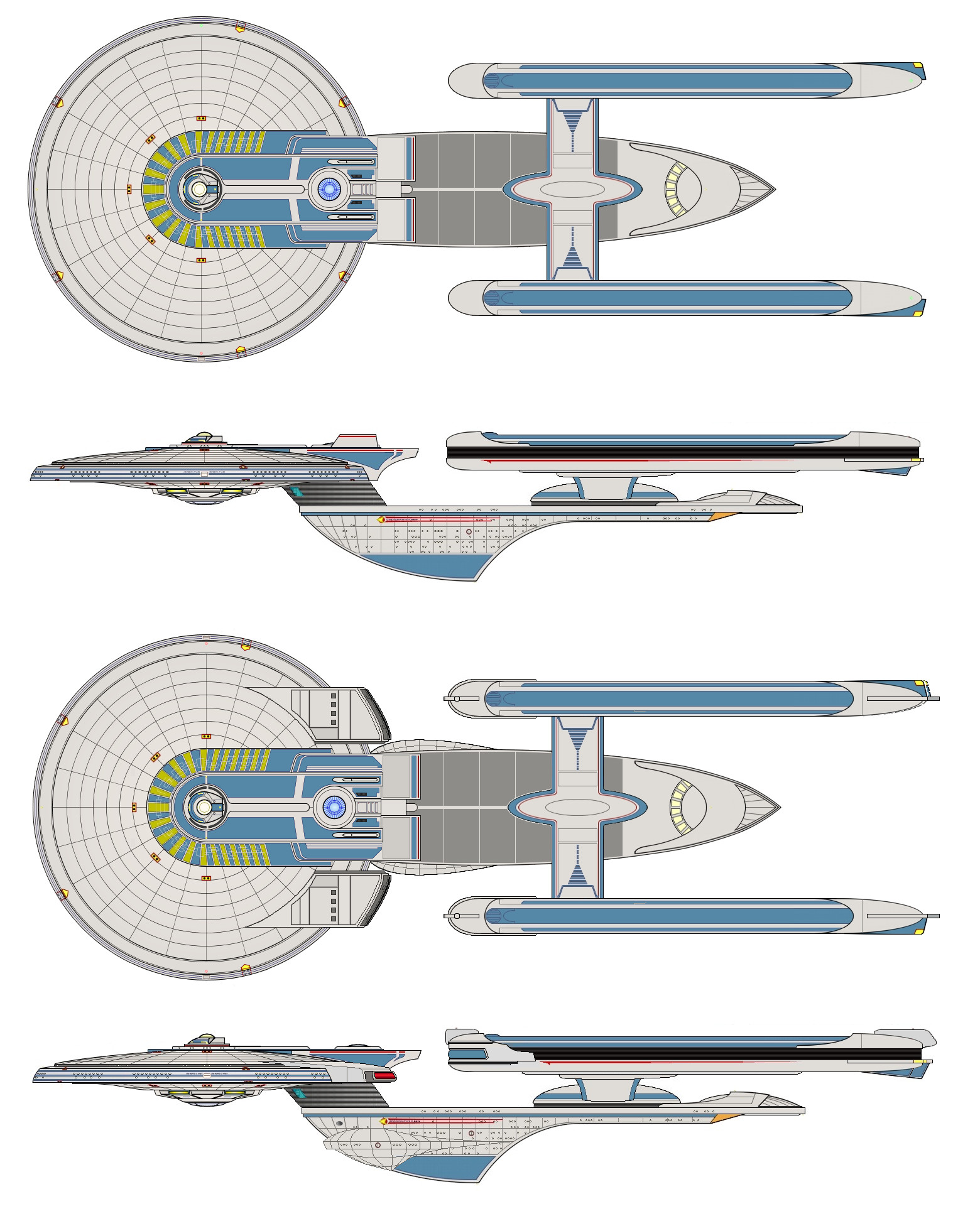 Excelsior Class Starship And Refit 386056262 on Star Trek Starship Parts