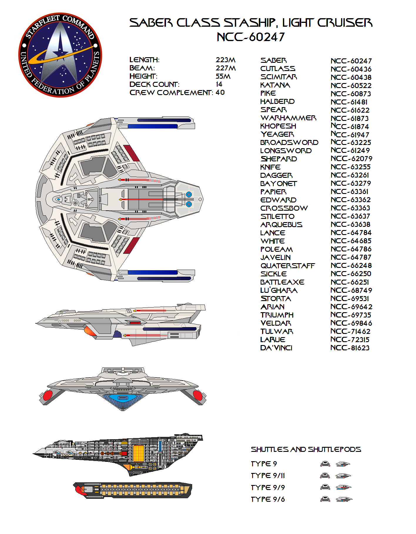 Saber class star ship. by jbobroony