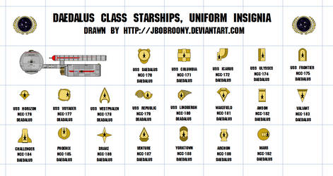 Daedalus class star ship uniform icon/insignia. by jbobroony