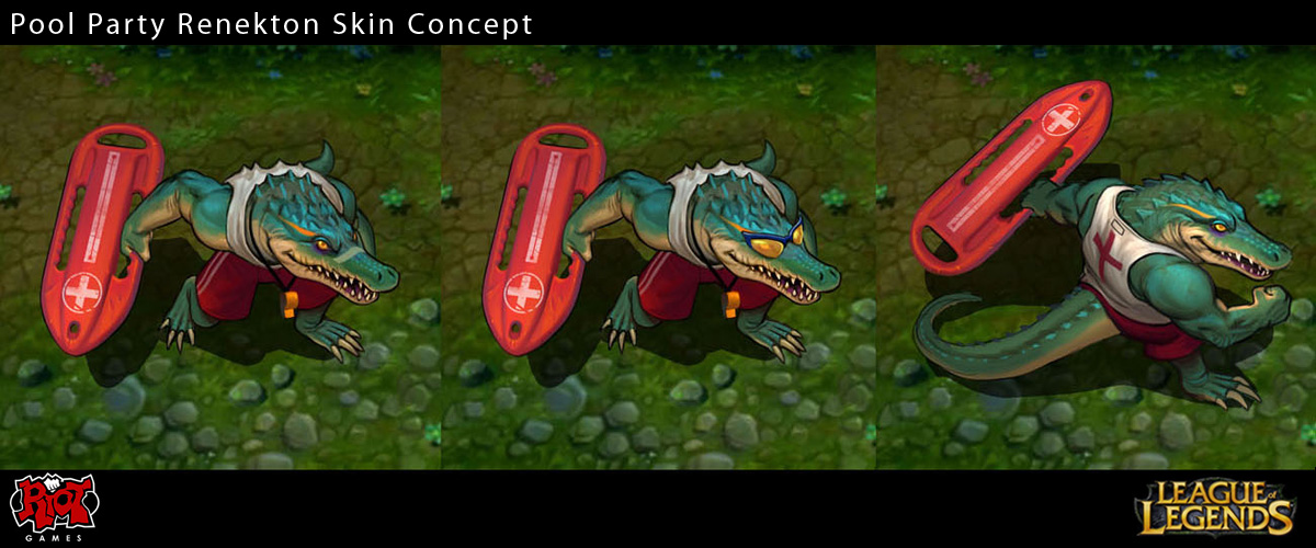 Pool Party Renekton Skin Concept by Yideth on DeviantArt