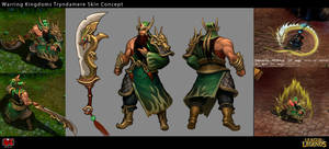 Warring Kingdoms Tryndamere Skin Concept by Yideth