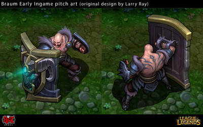 Early Braum Ingame Art by Yideth