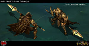 Azir Sand Soldier Concept Art