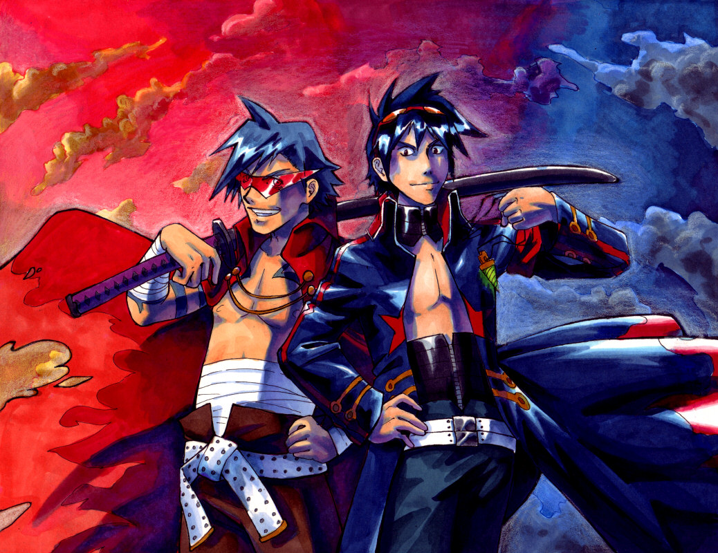 Simon + Kamina by taintedsilence on DeviantArt