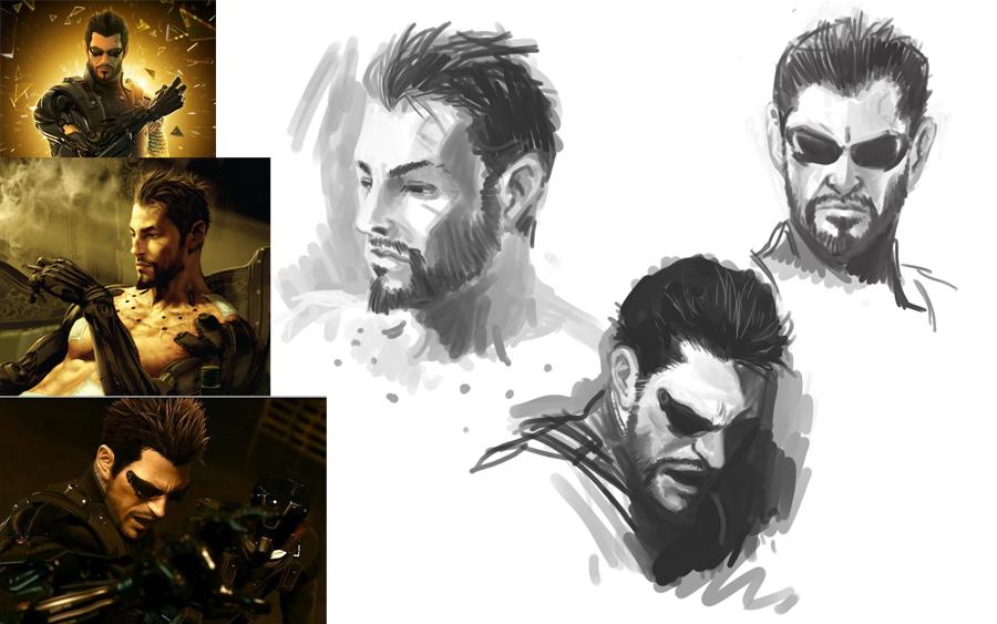 Deus Ex speedpaint by taintedsilence