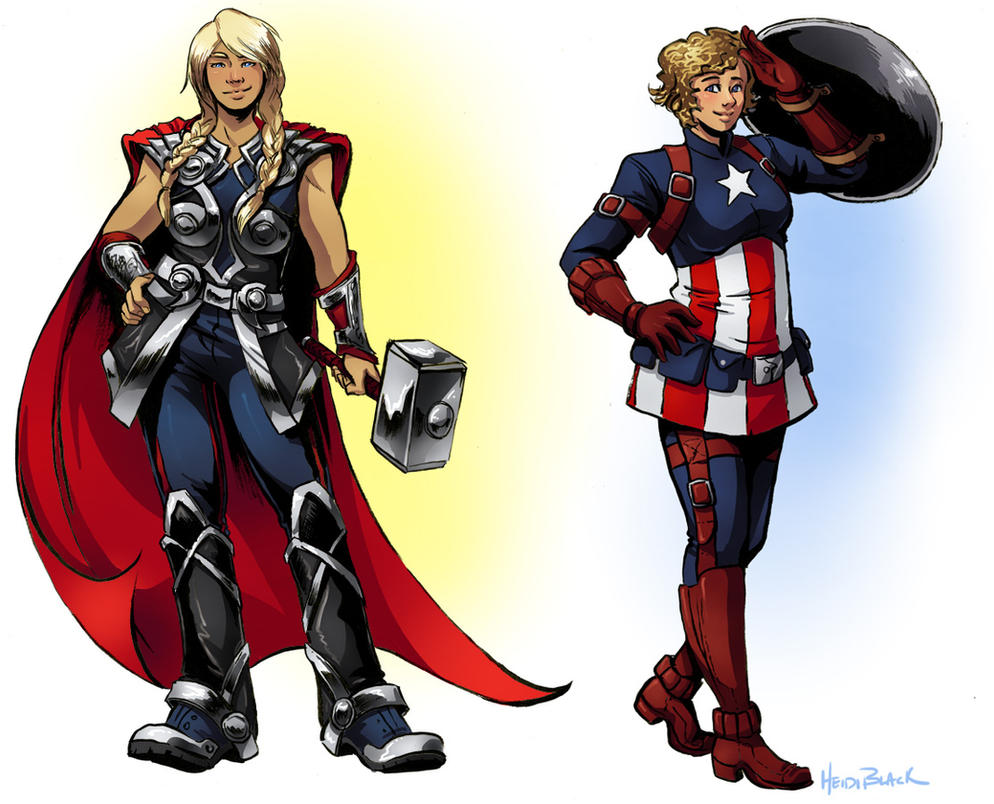cap and thor genderbend by taintedsilence on deviantart