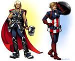 Cap and Thor Genderbend