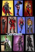 Ladyvengers Poster by taintedsilence