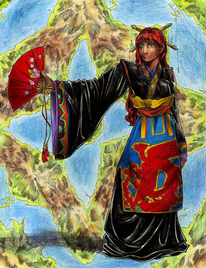 twelve kingdoms fanart - youko by taintedsilence