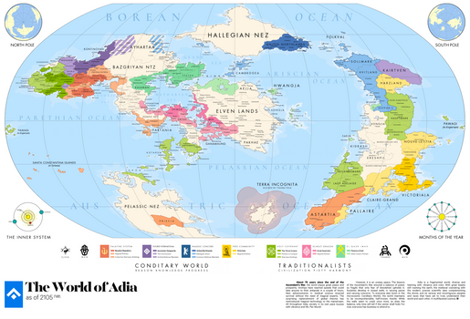 adia | Great Map of the World