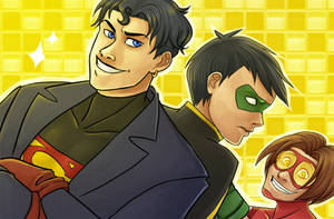 young justice: shut up tim by LizCoshizzle
