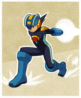 Megaman dynamic pose by megamasterO