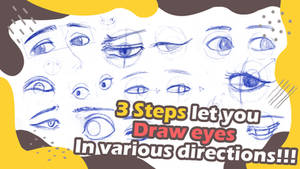 3 Steps let you draw eyes in any direction!!!