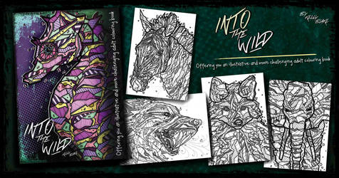 Into the Wild Adult Colouring Book by Kelly Blake