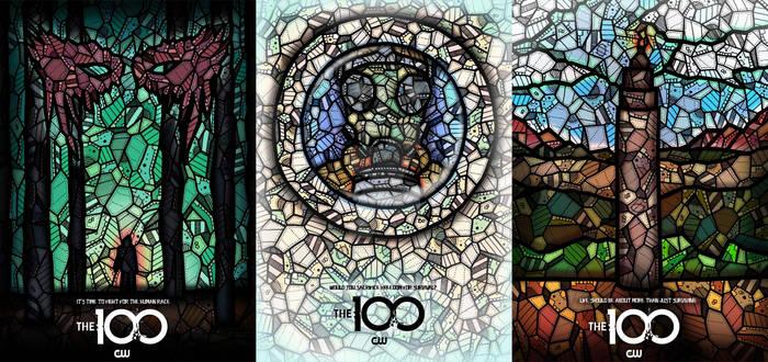 THE 100 SEASON POSTERS BY KELLY BLAKE
