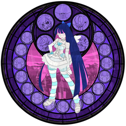 :Stained Glass: Stocking Anarchy :Ver 1: by PowBunny