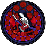 :Stained Glass: Marceline the Vampire Queen