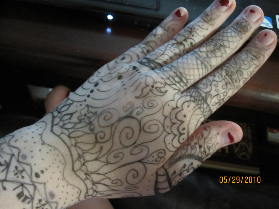 Hand Henna Pen art by NightlySkitters on DeviantArt