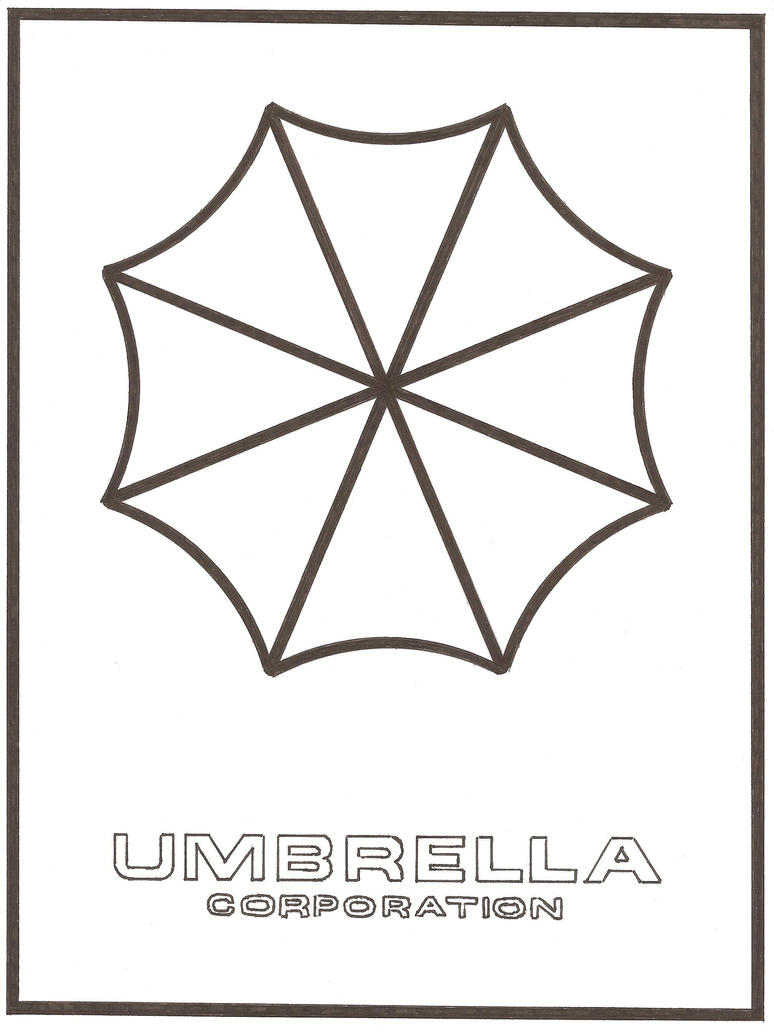Line Art Umbrella : Umbrella corporation version by deefourteen on deviantart