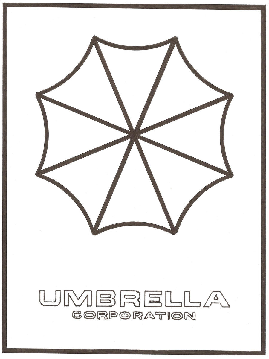 Line Drawing Umbrella : Umbrella corporation version by deefourteen on deviantart