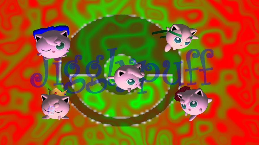 Group Of Jigglypuff Melee Green Images