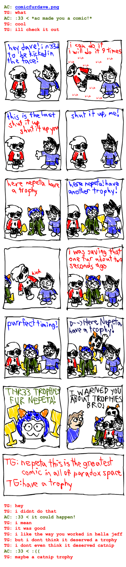 Nepeta's Crazy Comic by fwabio