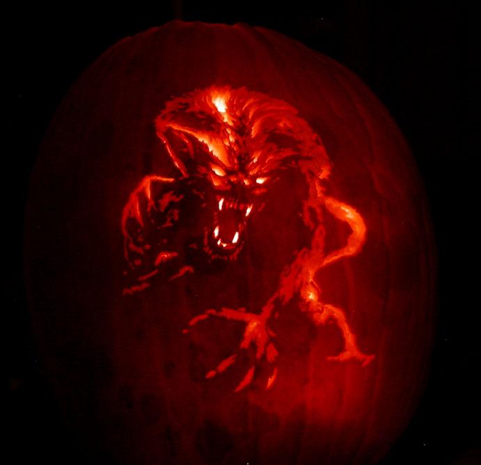 Werewolf Pumpkin Carving by Revelation-Six