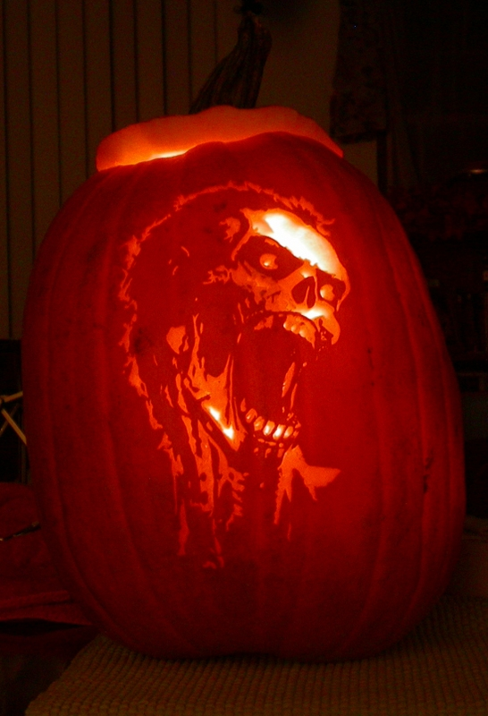 Zombie pumpkin carving by revelation six on deviantart