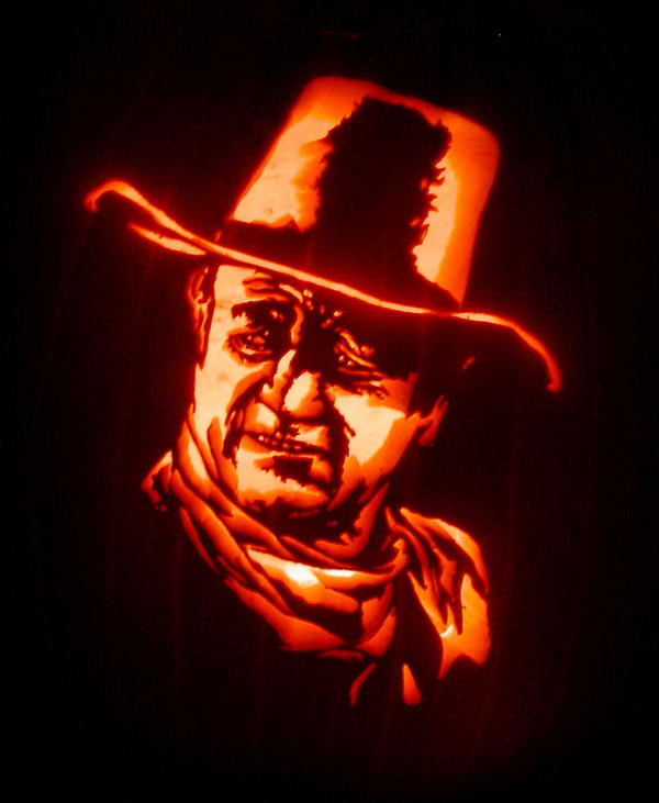 John Wayne Jack-O-Lantern by Revelation-Six