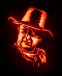John Wayne Jack-O-Lantern