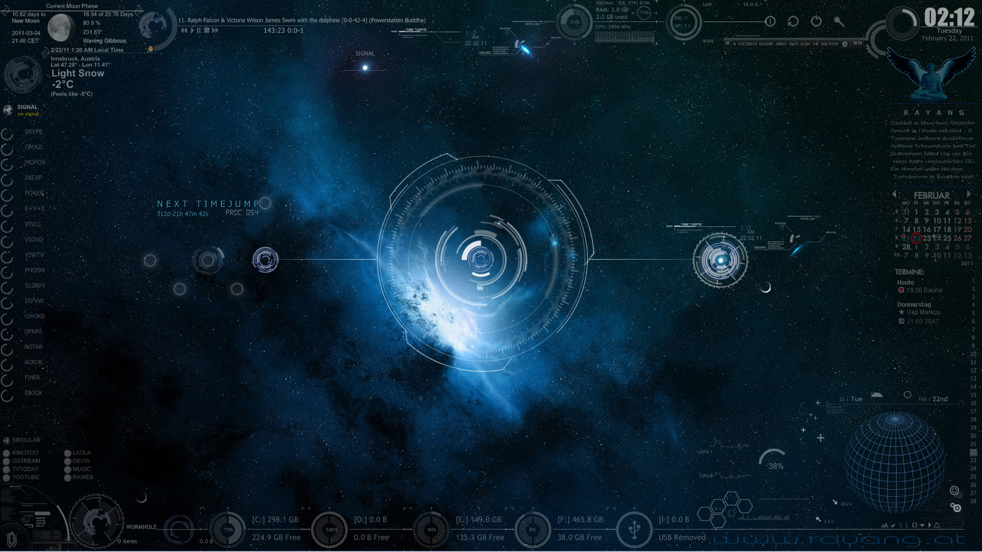 Timewarpout rainmeter by rayang1 on deviantart for Deviantart rainmeter