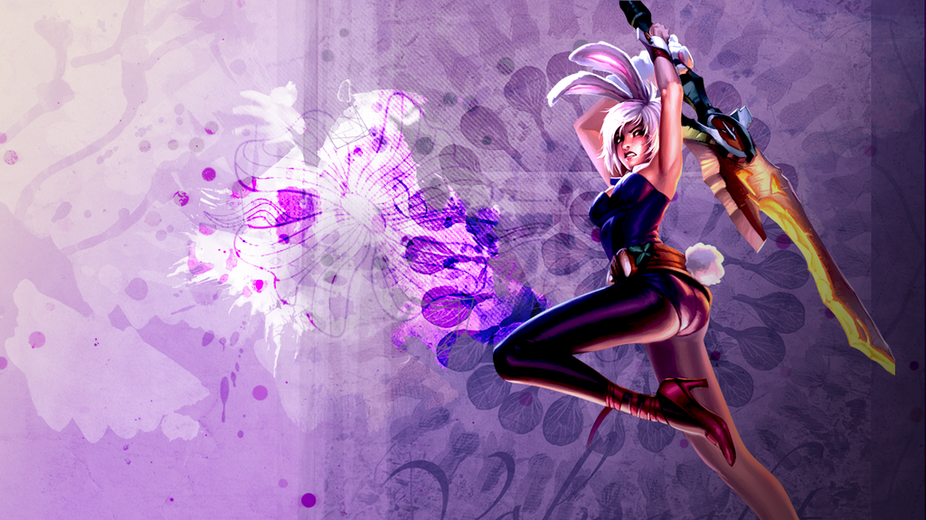 Bunny Riven Wallpaper (in purple) by EpicRandomPeep on DeviantArtBunny Riven Fan Art