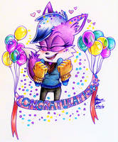 GIFTART: Congrats for 500+ PurpleFoxKinz! by Bowgirl5