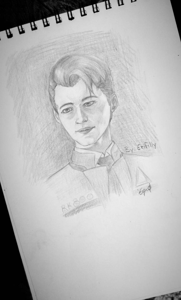 Hello my name is connor pencil drawing by erifilly