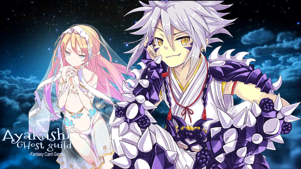 Ayakashi ghost guild dragon god and priestess by laila549