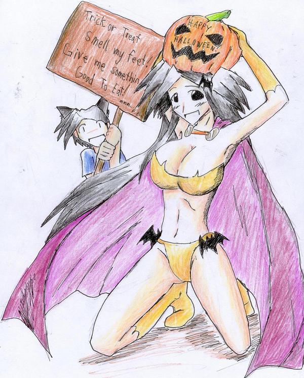 Halloween Twins by hewhowalksdeath