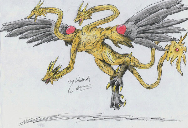 Grand Ghidorah by hewhowalksdeath
