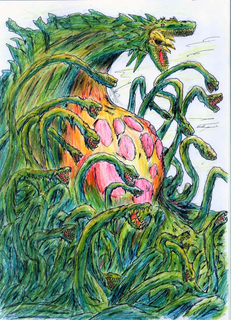 Biollante V3 by hewhowalksdeath