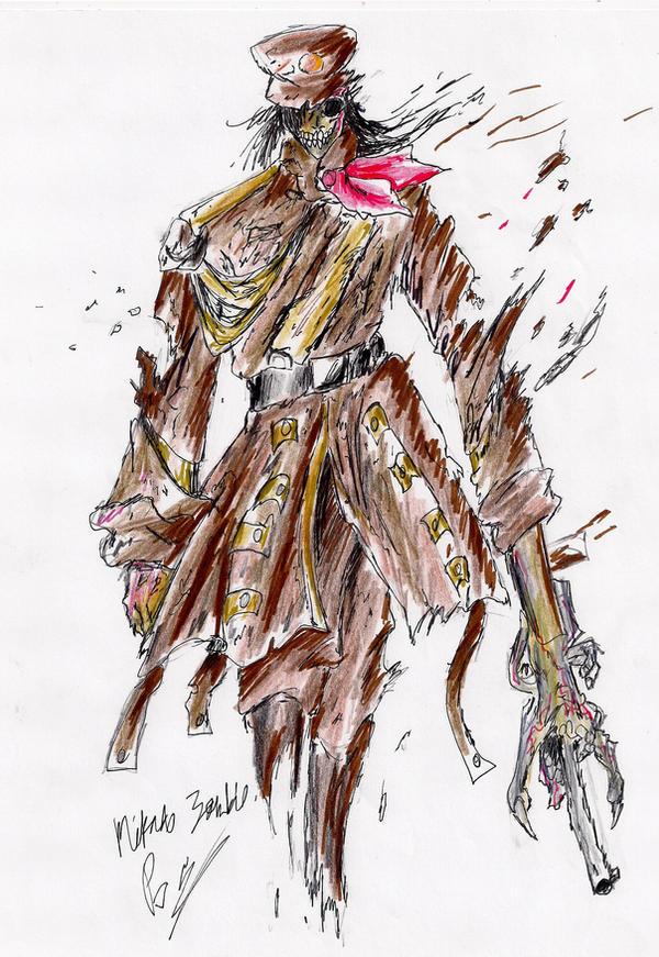 Mikado Zombie by hewhowalksdeath