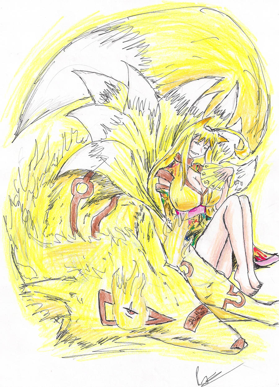 Otsune: fox by hewhowalksdeath